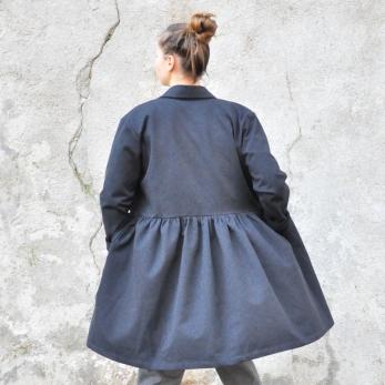 Robe-chemise, jean noir