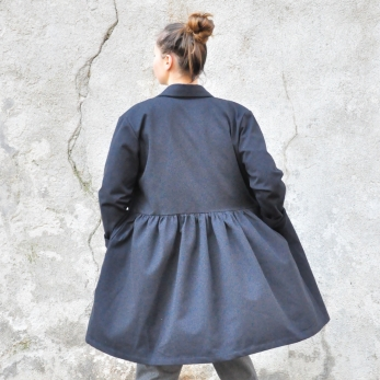 Shirt-dress, black denim