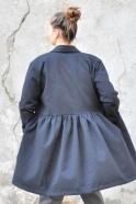 Shirt-dress, black denim