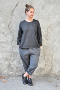 Classic trousers, grey wool blend