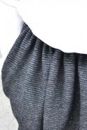 jupe faux-cul, lainage rayé