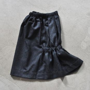jupe faux-cul, drap gris
