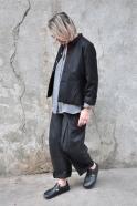 pantalon à plis, drap gris