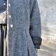 Manteau à plis, drap bouclé