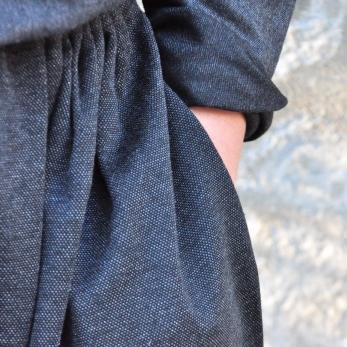 Skirt, heather wool blend