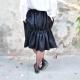 jupe faux-cul, lainage noir