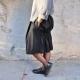 jupe faux-cul, lainage chiné