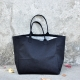 Squared bag with lining, black denim