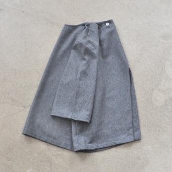 Sur-blouse, lainage gris