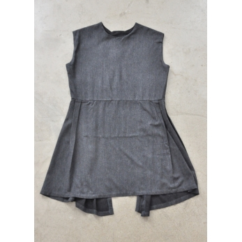 Sur-robe, lainage fin gris