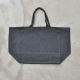 Squared bag, grey fine wool blend