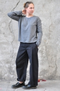 Unisex pullover, grey thick knit
