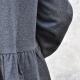 Robe-chemise, lainage chiné