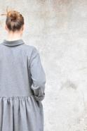 Shirt-dress, grey wool blend