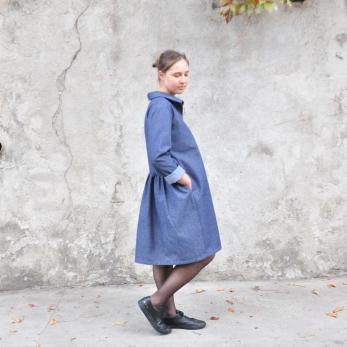 Robe-chemise, jean bleu