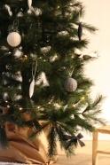 Christmas ball, beige linen