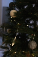 Christmas ball, grey linen