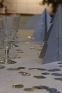 Sapin en papier glitter argent