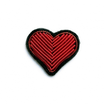 "brooch ""Heart"" red"