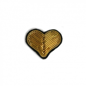 "brooch ""Heart"" gold"