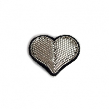 "brooch ""Heart"" silver"