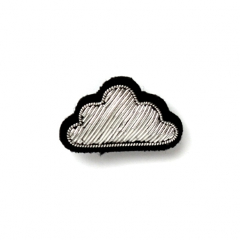"brooch ""cloud"" silver"