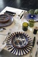 """assiette """"soleil"""" bleue"""