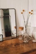 """Vase transparent """"Q de bouteille"""""""