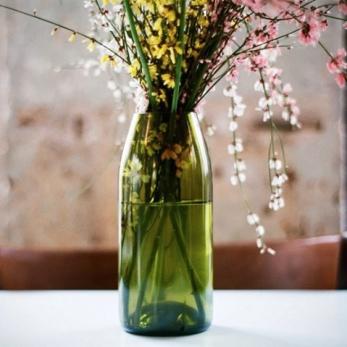 """Brown vase """"Q de bouteilles"""""""