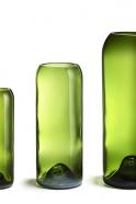 """Vase vert """"Q de bouteille"""""""