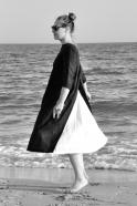 Robe ouverte, lin noir