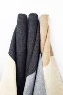 tapis color block noir