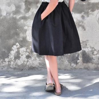 Skirt, black denim