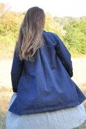 Manteau, jean bleu