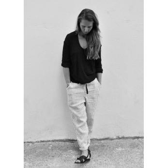 Tee-shirt manches longues, bambou noir