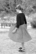 Robe à plis sans manche, lin gris