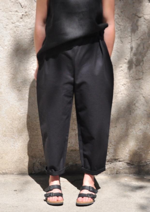 High waist trousers, black denim