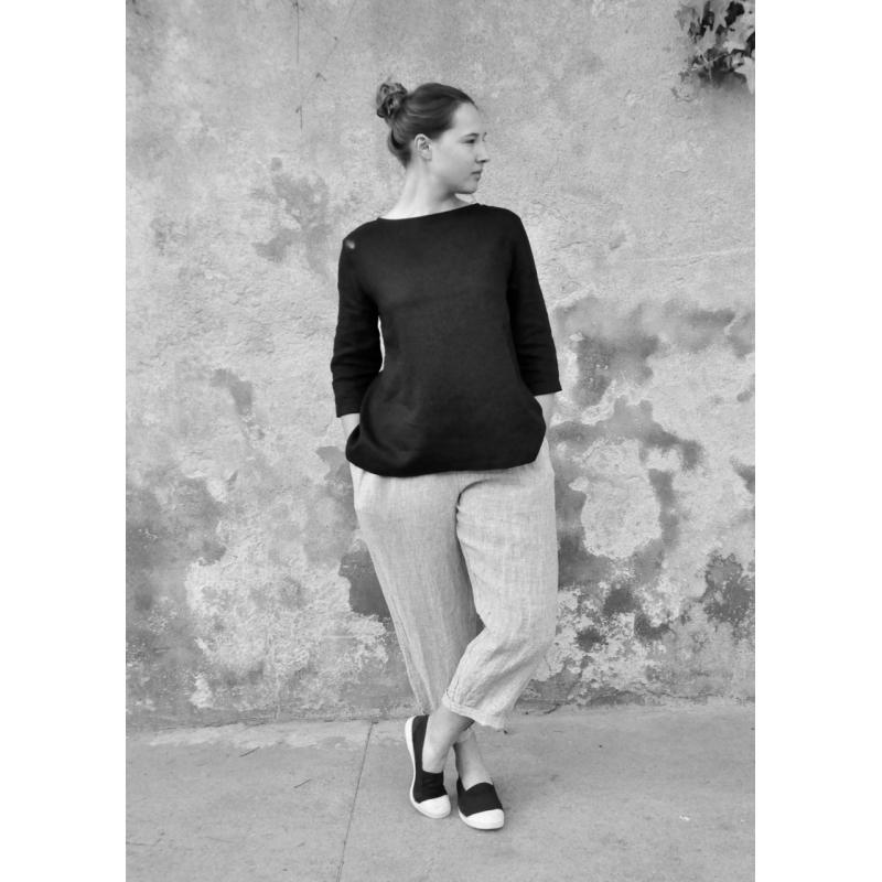1ffd3f41447bd Pantalon taille haute, lin
