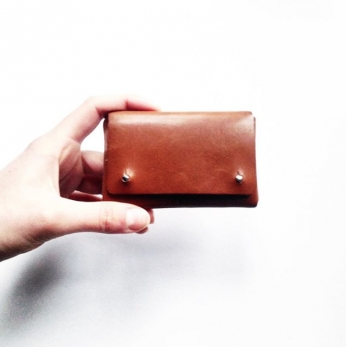 Small wallet CLEMENT, brown leather