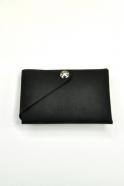 Petit porte-feuille CLEMENT, cuir noir