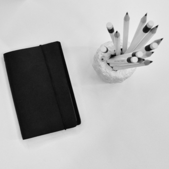 Notebook COLIN, black leather