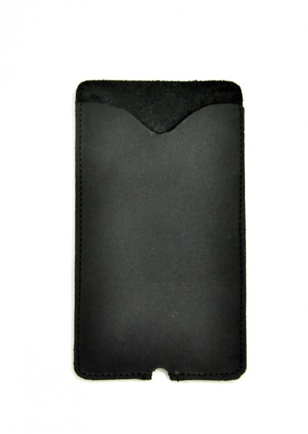 Etui pour Iphone THIBAUT, cuir noir