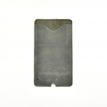 Iphone case THIBAUT, taupe leather
