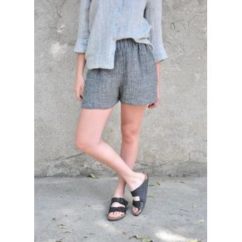 Short, grey linen