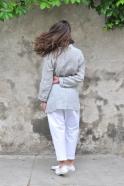 Saroual trousers, white denim