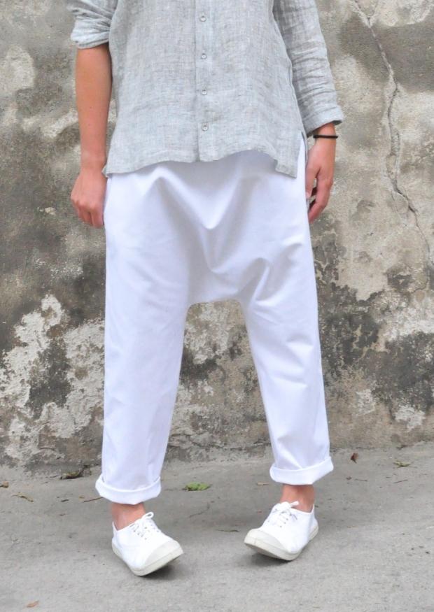 Pantalon sarouel, jean blanc
