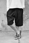 Short mixte, lin épais noir