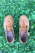 Sandales Alain, cuir naturel