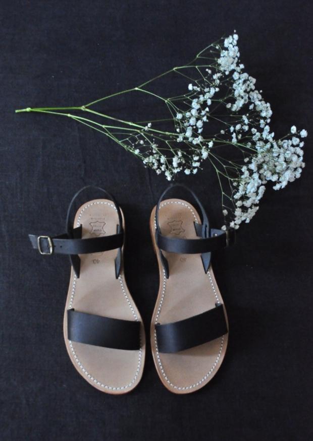 Sandals Cecile, black leather