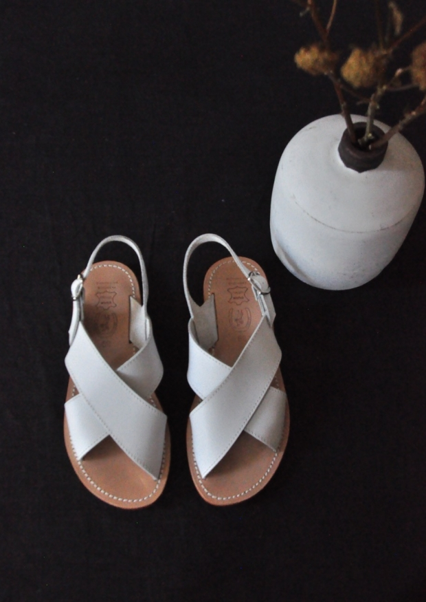 Sandals Uzes, white leather